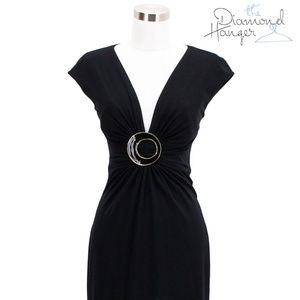 A71 CACHE Designer Dress Size Small S 4 6 Black Su